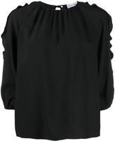 RED Valentino ruffle trim blouse