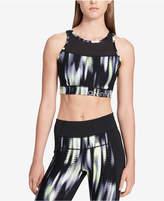 Calvin Klein Tribeca Printed Mesh-Back Medium-Support Sports Bra