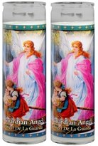 Gifts By Lulee/Candles Set of 2 Guardian Angel Prayer Candles 2 Veladoras Del Angel De La Guarda