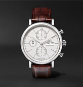 IWC SCHAFFHAUSEN Portofino 42mm Stainless Steel and Alligator Chronograph Watch