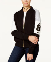 Say What Juniors' Varsity Colorblocked Bomber Jacket