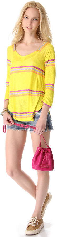 Splendid Hermosa Slub Striped Top