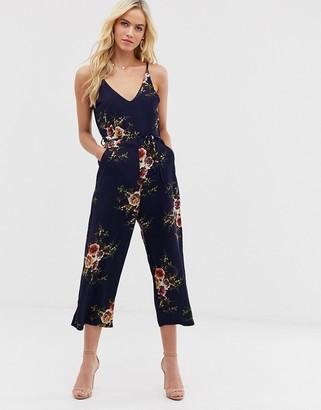 AX Paris floral culotte jumpsuit