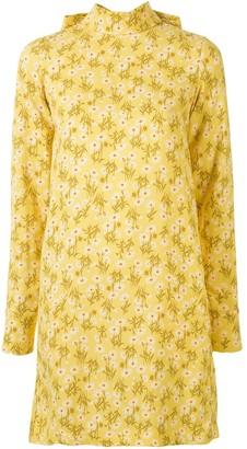 No.21 Floral Print Bow-Embellished Dress