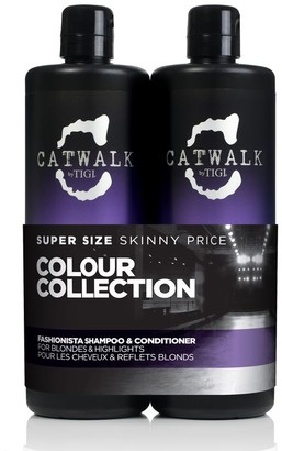 Catwalk Fashionista Purple Shampoo And Conditioner For Blonde Hair 2X750Ml