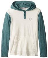 O'Neill Kids - The Bay Hooded Knit Henley Top Boy's Sweatshirt