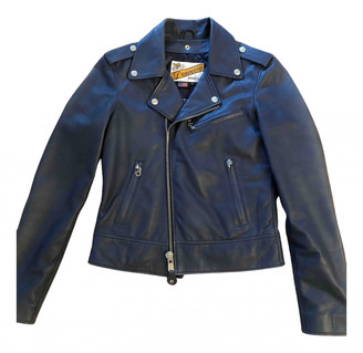 Schott Blue Leather Jackets