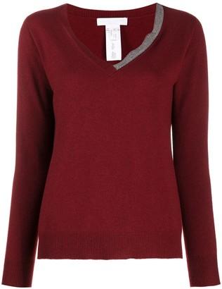 Fabiana Filippi embellished V-neck jumper