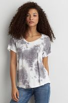 American Eagle Outfitters AE Soft & Sexy V-Neck Favorite Tie-Dye T-Shirt