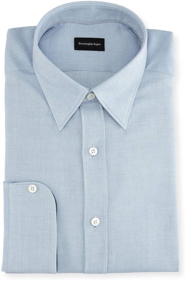 Ermenegildo Zegna Woven Cotton Dress Shirt
