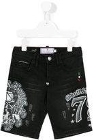 Philipp Plein Junior printed denim shorts