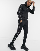 Asos Design DESIGN muscle tracksuit with hoodie & piping details