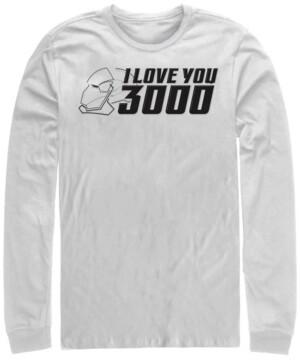 Marvel Men's Avengers Endgame Iron Man Helmet I Love You 3000, Long Sleeve T-shirt