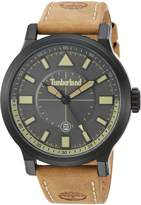 Timberland Men's 'DRISCOLL' Quartz Stainless Steel and Leather Casual Watch, Color:Brown (Model: TBL15248JSB61)
