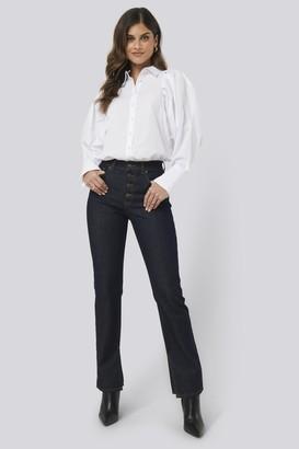 NA-KD Split Hem Straight Fit Jeans