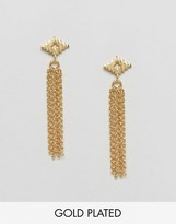 Gorjana Gold Plated Faryn Fringe Earrings