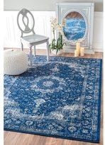 nuLoom Traditional Persian Vintage Dark Blue Runner Rug (2'8 x 8')