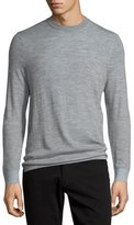 Vince Double-Layer Crewneck Sweater, Heather Steel