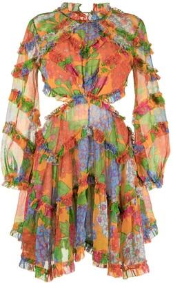 Zimmermann Riders frill silk dress