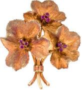 Tiffany & Co. 18K Ruby Flower Boquet Brooch