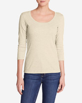 Eddie Bauer Women's Favorite 3/4-Sleeve Scoop-Neck T-Shirt