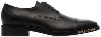 Balenciaga black lace-up leather Derby shoes