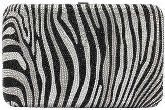 Judith Leiber Seamles Zebra Print Box Clutch