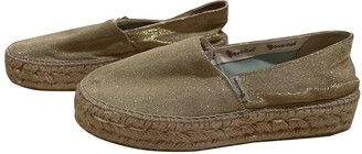 Non Signã© / Unsigned Gold Synthetic Espadrilles