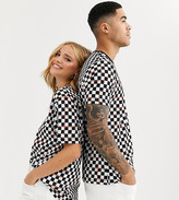 Life Is Beautiful LIFE IS BEAUTIFUL unisex relaxed fit t-shirt in checkerboard