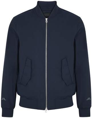 J. Lindeberg Barret Navy Shell Bomber Jacket