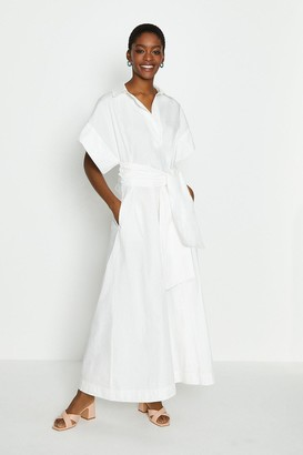 Coast Wide Sleeve Belted Shirt Dress