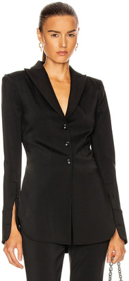 Alexander Wang Fitted Shirt Jacket in Black | FWRD