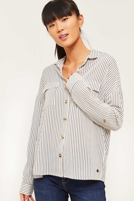 Ardene Eco-Conscious Recycled Fabric Striped Blouse