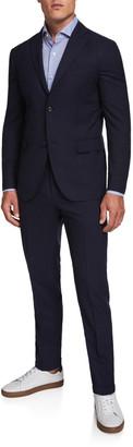 Boglioli Men's Two-Piece Wool Twill Suit
