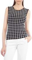 Akris Punto Grid Knit Top