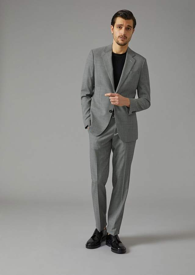 Giorgio Armani Check Twill Soho Suit