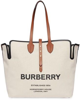 Burberry The Large Soft Cotton Canvas Belt Bag
