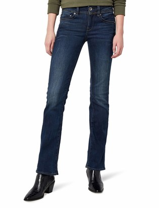 G Star Women's Midge Saddle Mid Rise Bootleg Fit Jean in Neutro Stretch