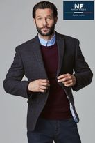 Next Mens Navy Tailored Fit Check Jacket