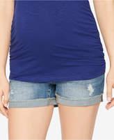A Pea in the Pod Cuffed Denim Maternity Shorts