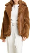 Vince Genuine Shearling & Leather Bomber Jacket