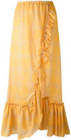 Lemlem ruffled maxi skirt - women - Cotton - S