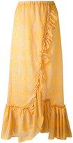Lemlem ruffled maxi skirt - women - Cotton - XS