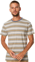 rhythm Everyday Stripe Mens Tee Green