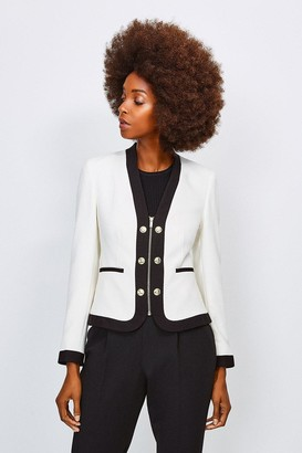 Karen Millen Zip Front Military Jacket