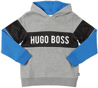 HUGO BOSS Logo Cotton Blend Sweatshirt Hoodie