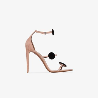 Alaia Beige 110 leather strap sandals