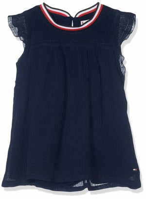 Tommy Hilfiger Baby Girls' Sporty Solid Crepe Top S/s Vest