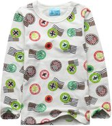 XiaoYouYu Big Boy's Cartoon Print Cotton Soft Tees + Pants Pajama Sets US Size 8