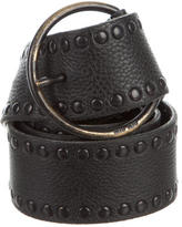 Miu Miu Leather Stud-Embellished Belt